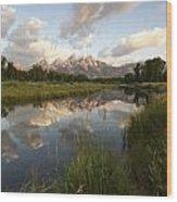Reflection At Schwabacher Landing Wood Print