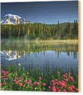Reflection Lakes Wood Print