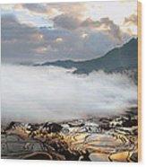 Reflection Of Dawn Wood Print