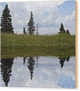 Reflection Of Lake Wood Print
