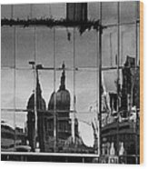 Reflection Of The City Wood Print