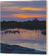 Reflection Of The Sunset Wood Print
