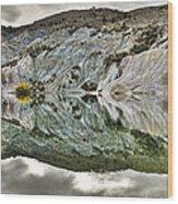 Reflection On Blue Lake, St Bathans Wood Print
