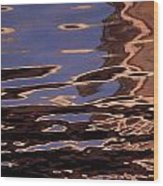 Reflection Patterns In The Waves Wood Print by Paul Damien