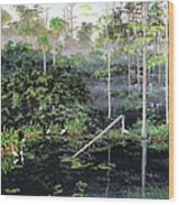 Reflections 1 Wood Print by Kevin Brant