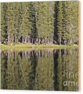 Reflections Along Summit Lake Wood Print