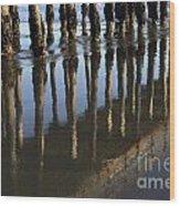 Reflections Avila Beach California Wood Print