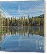 Reflections At The Summit Wood Print