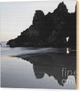 Reflections Big Sur Wood Print
