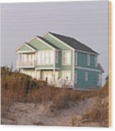Reflections from a Beach House Wood Print