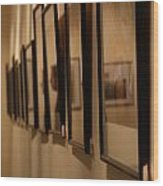 Reflections From A Series Of Painting Frames Wood Print