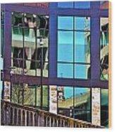 Reflections In San Antonio Texas Wood Print