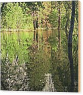 Reflections In The Merced Wood Print