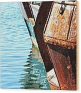 Reflections Of A Rust Bucket Wood Print