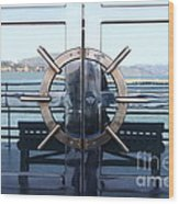 Reflections Of Alcatraz Island At The Maritime Museum In San Francisco California . 7d14080 Wood Print by Wingsdomain Art and Photography