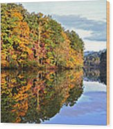 Reflections Of Autumn Wood Print by Susan Leggett