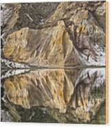 Reflections Of Clay Cliffs In Blue Lake Wood Print