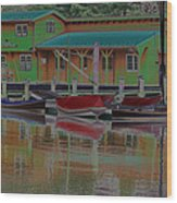 Reflections Of Color Wood Print