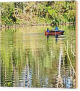 Reflections Of Fathers' Day Wood Print