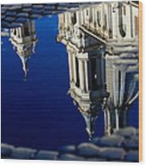 Reflections Of Rome Wood Print