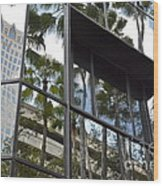 Reflections Of Tampa Wood Print