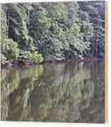 Reflections On Aldridge Lake Wood Print