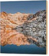 Reflections On Angel Lake Wood Print