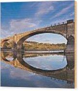 Reflections On Fernbridge Wood Print