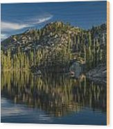 Reflections On Salmon Lake Wood Print