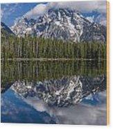 Reflections On String Lake Wood Print