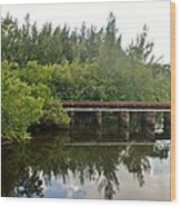 Reflections On The North Fork River Wood Print