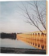 Reflections On The Susquehanna Wood Print