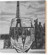 Reflexions Francaises Wood Print