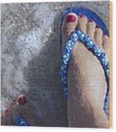 Refreshing Foot Wood Print