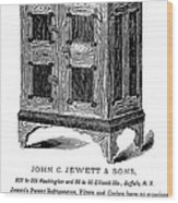 Refrigerator, 1876 Wood Print by Granger
