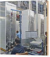 Refrigerator Factory Wood Print by Ria Novosti