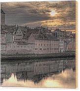 Regensburg Cityscape Wood Print by Anthony Citro