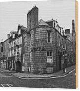 Regent Quay And Marischal Street Aberdeen Scotland Uk Wood Print