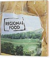 Regional Food Wood Print
