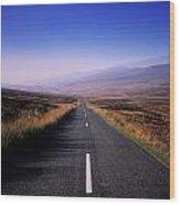 Regional Road In County Wicklow Wood Print
