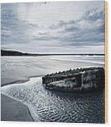 Reighton Sands Beach Wood Print