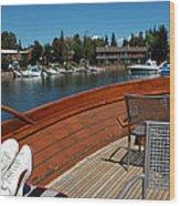 Relaxing On Lake Tahoe Wood Print