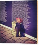 Relica #vietnammemorial Wall In Wood Print