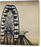 Remember When Ferris Wheel Wood Print