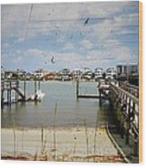 Remembering Wrightsville Beach Wood Print by Joan Meyland