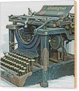 Remington 11 Wood Print
