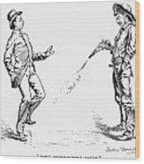Remington: Cowboy, 1888 Wood Print