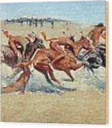 Remington: Indian Warfare Wood Print