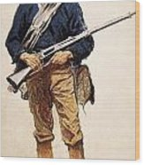 Remington: Soldier, 1901 Wood Print