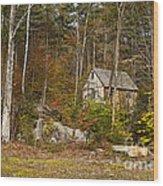 Remote Vermont Cabin Wood Print